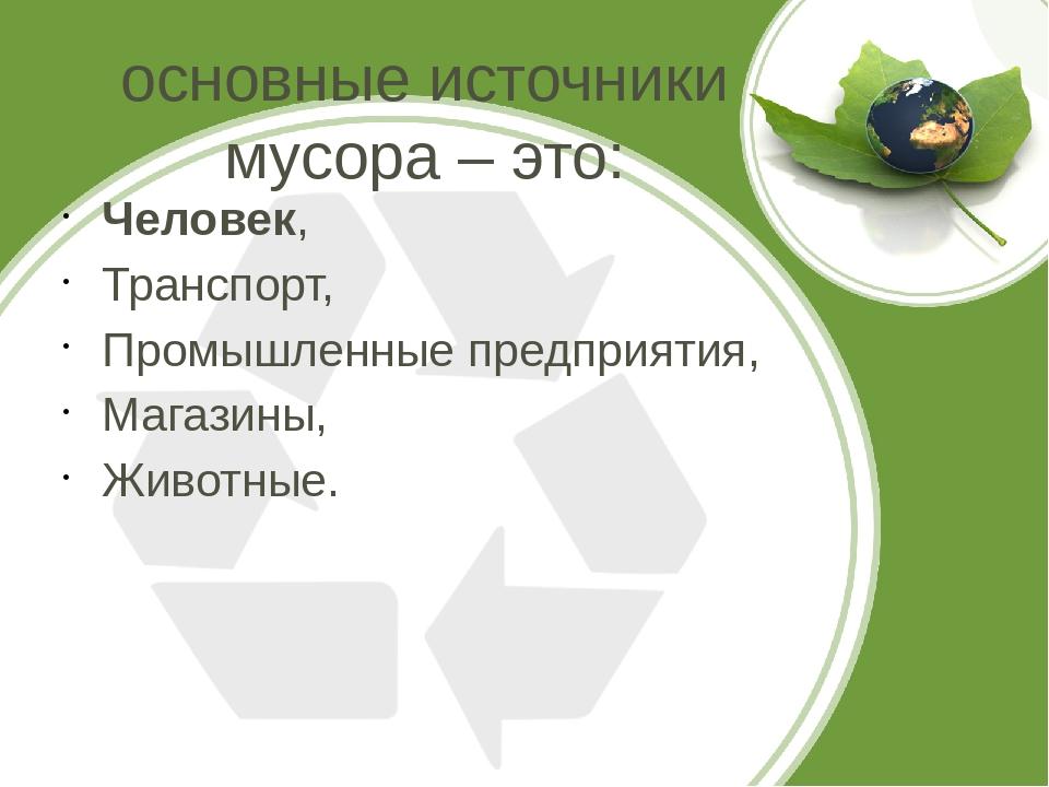 Источники мусора