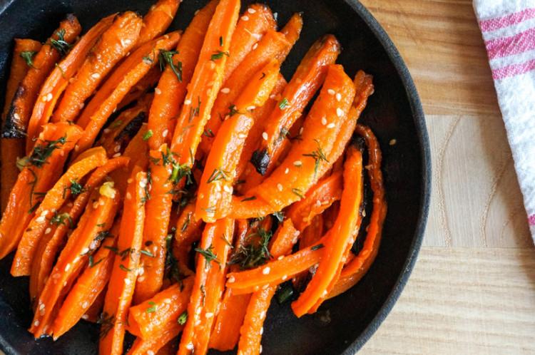 Морковь тушеная под бешамелью