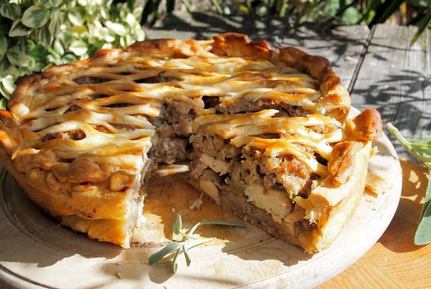 Пирог с грибами