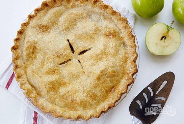Закрытый пирог с яблоками и лимоном